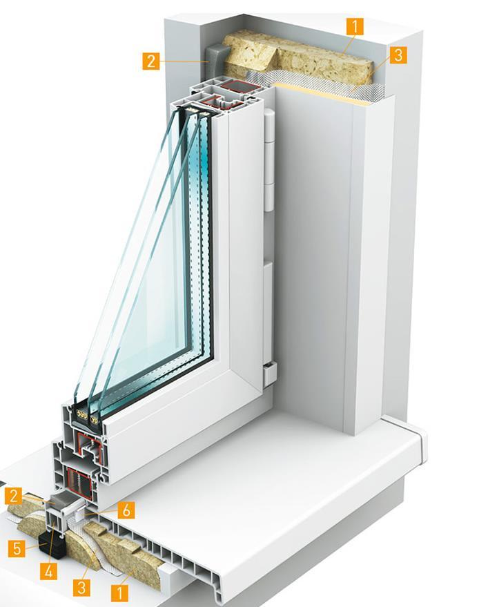 монтажный шов ПВХ окно